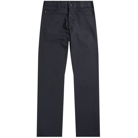 Emporio Armani 'J21' Regular Fit Cotton Chino Jeans Navy