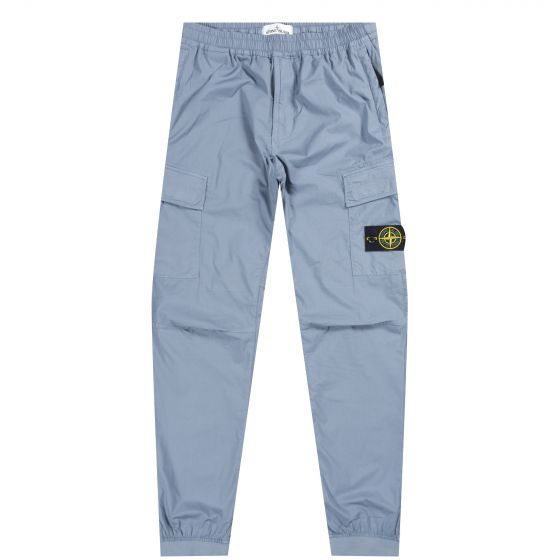 Stone Island 'Parachute Side' Pocket Cargo Trousers Powder Blue