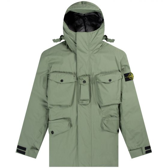 Stone Island 'Ripstop' Gore-Tex Product Technology Down Olive
