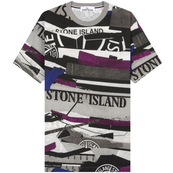 Stone Island 'All Over' Printed T-Shirt Multi