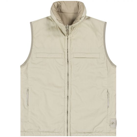 Stone Island 'Ghost' Reversible Stretch Wool Nylon Gilet Beige