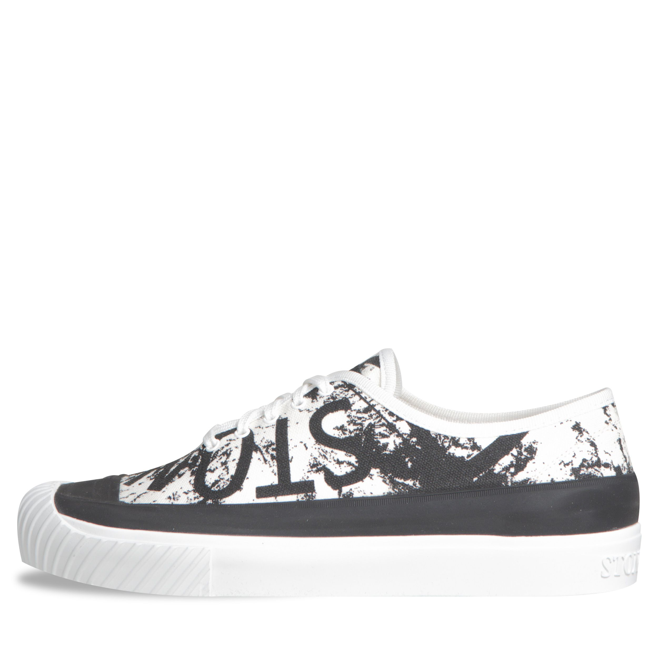 Logo' Canvas Trainers White