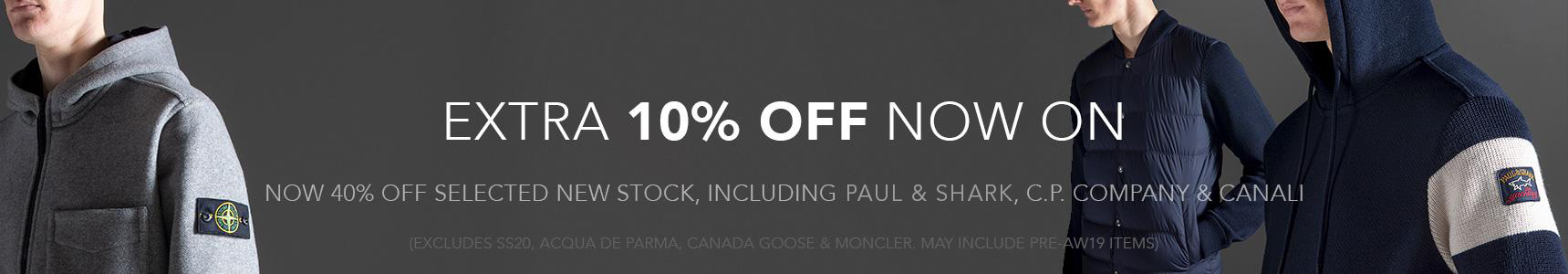 Extra 10% Off - Now 40% Off New Stock